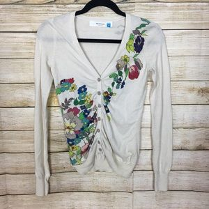 Anthropologie Sparrow Floral V Neck Cardigan